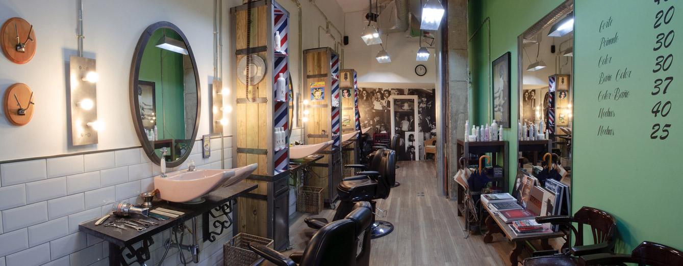 Proyectos decoracion e interiorismo fs peluqueria vintage for Decoracion de espacios vintage