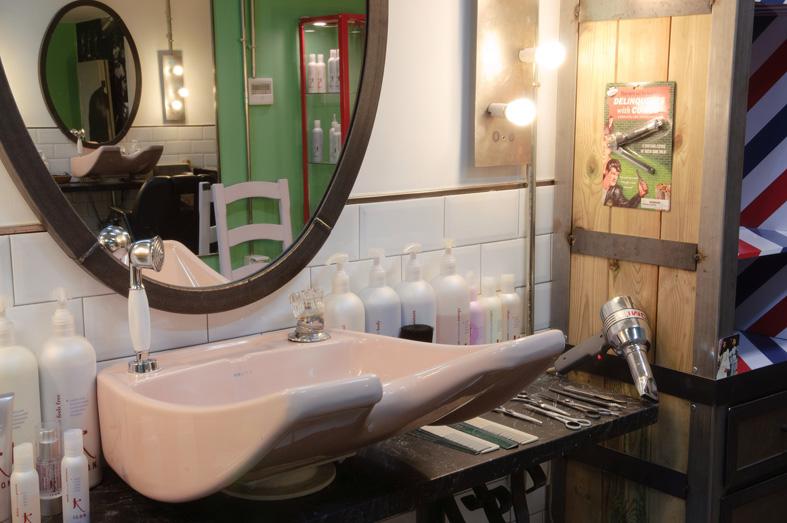 Proyectos decoracion e interiorismo fs peluqueria vintage for Decoracion en peluquerias