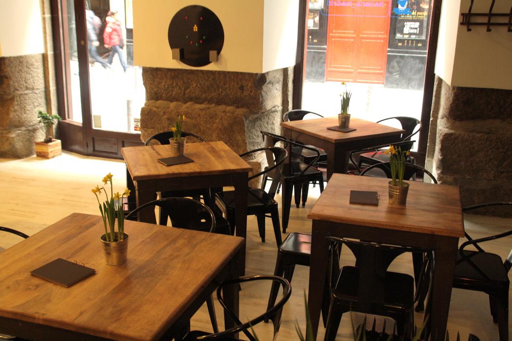 Proyecto decoracion italiana madrid mesas y sillas fs for Mobiliario cafeteria