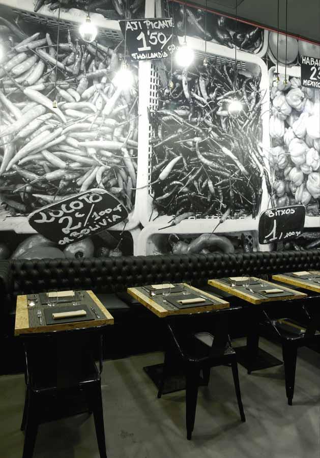 Muebles vintage en proyecto decoracion restaurante vi cool - Restaurante sergi arola madrid ...