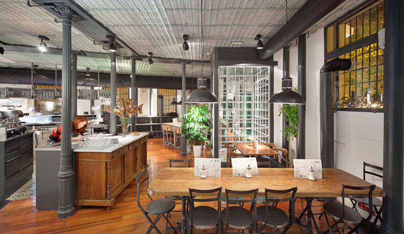 Proyecto de decoraci n interior restaurante la musa latina for Decoration terrasse restaurant