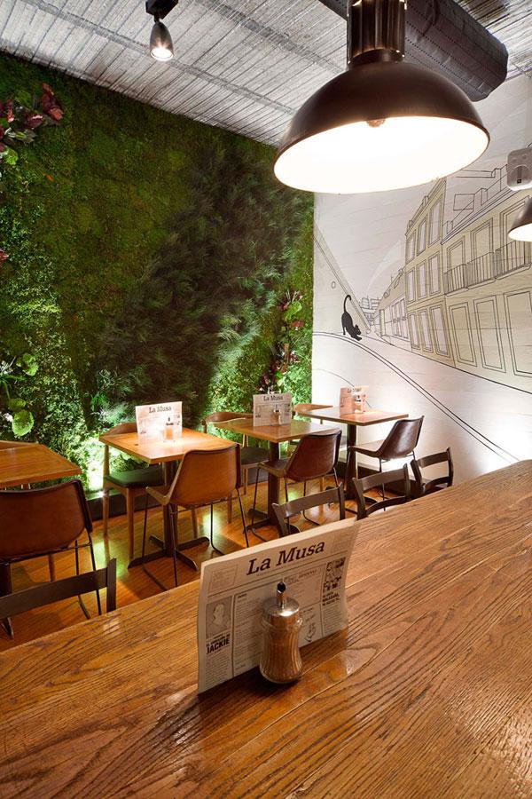 Proyecto de decoraci n interior restaurante la musa latina - La musa latina madrid ...