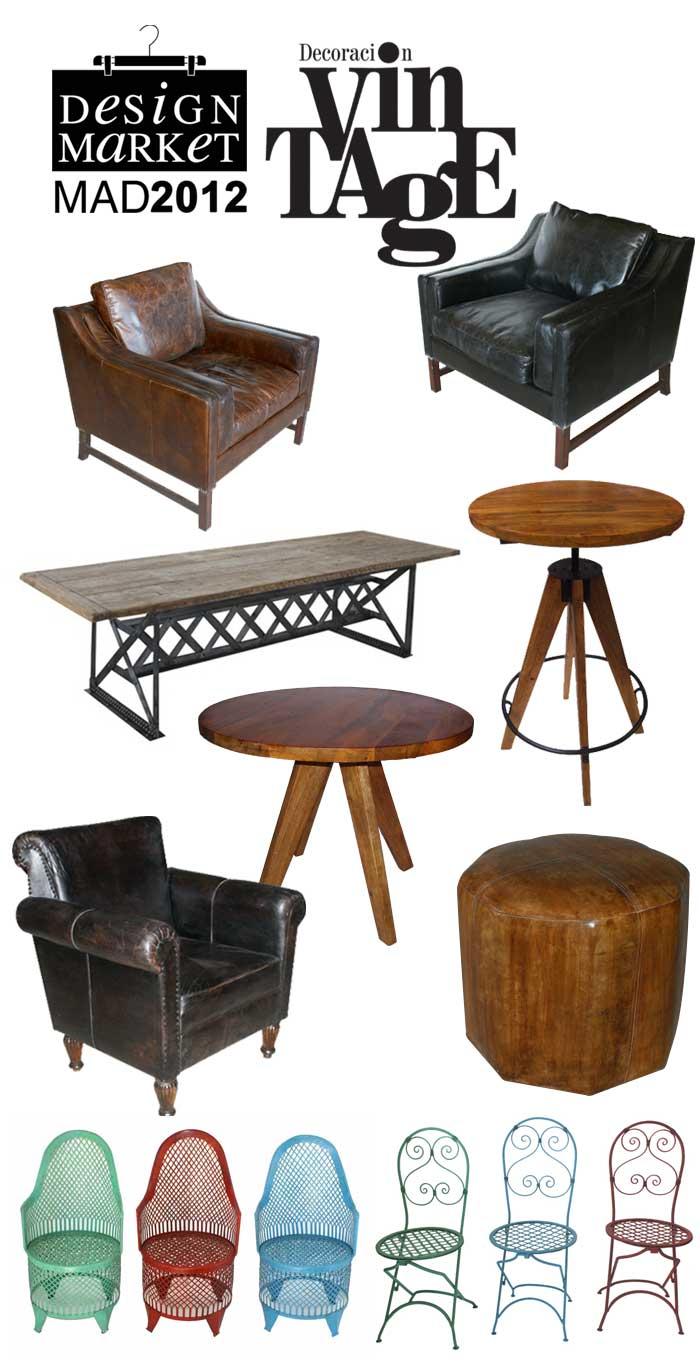 Mobiliario vintage en Design Market Mad 2012