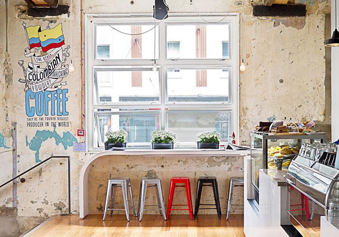 Proyectos de interiorismo de alto nivel para cafeterias for Diseno de interiores vintage