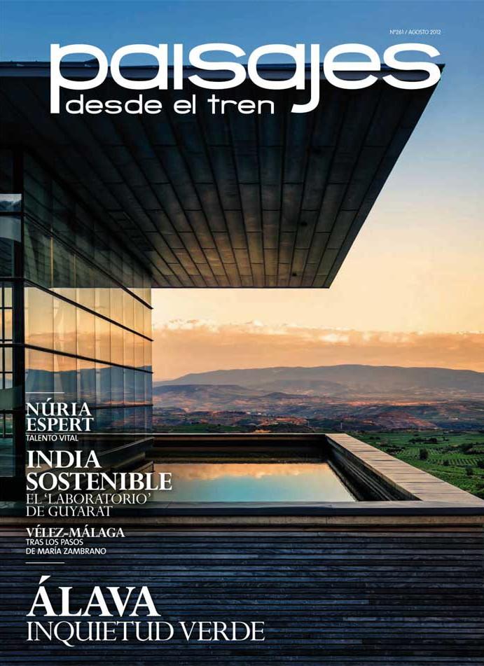 """Imágenes de la Portada de la revista """"Paisajes desde el tren"""""""