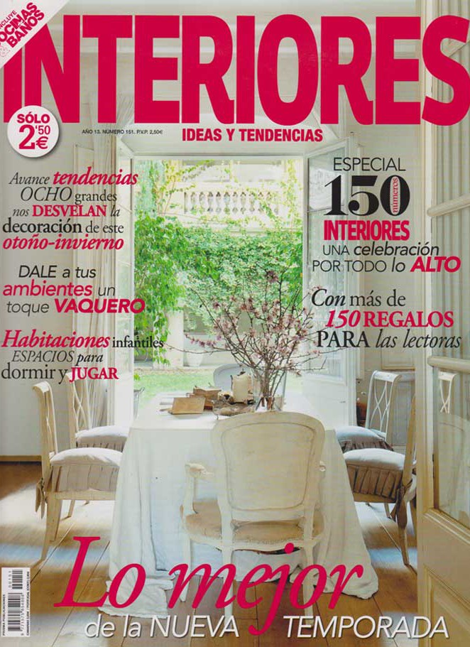 """Imágenes de la portada de la revista """"INTERIORIES"""""""