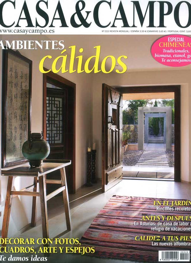 Fotos de la portada de la revista Casa & Campo