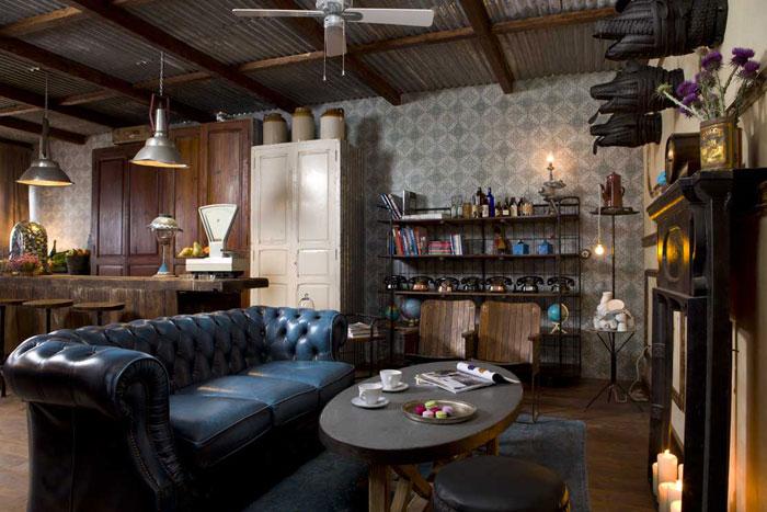 Imágenes del The Blue Coffee. Mobiliario para interiorismo en restaurantes