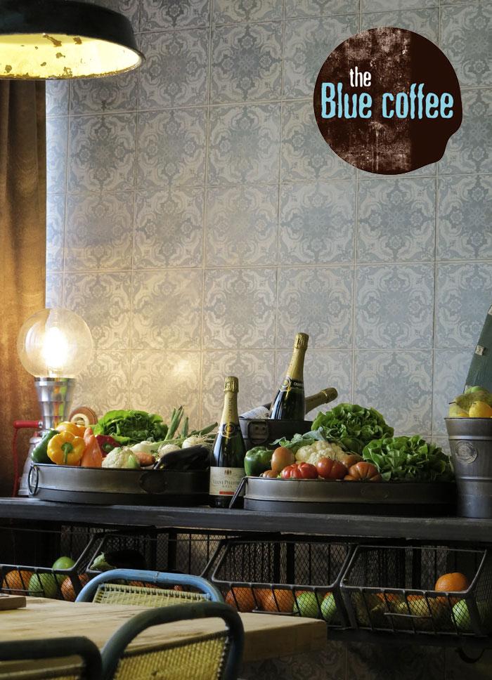 Imágenes de la cafetería The Blue Coffee. Proyecto para hostelería