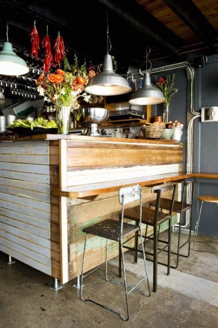 Materiales para decorar reformar o equipar locales de ocio - Barras de bar para cocinas ...
