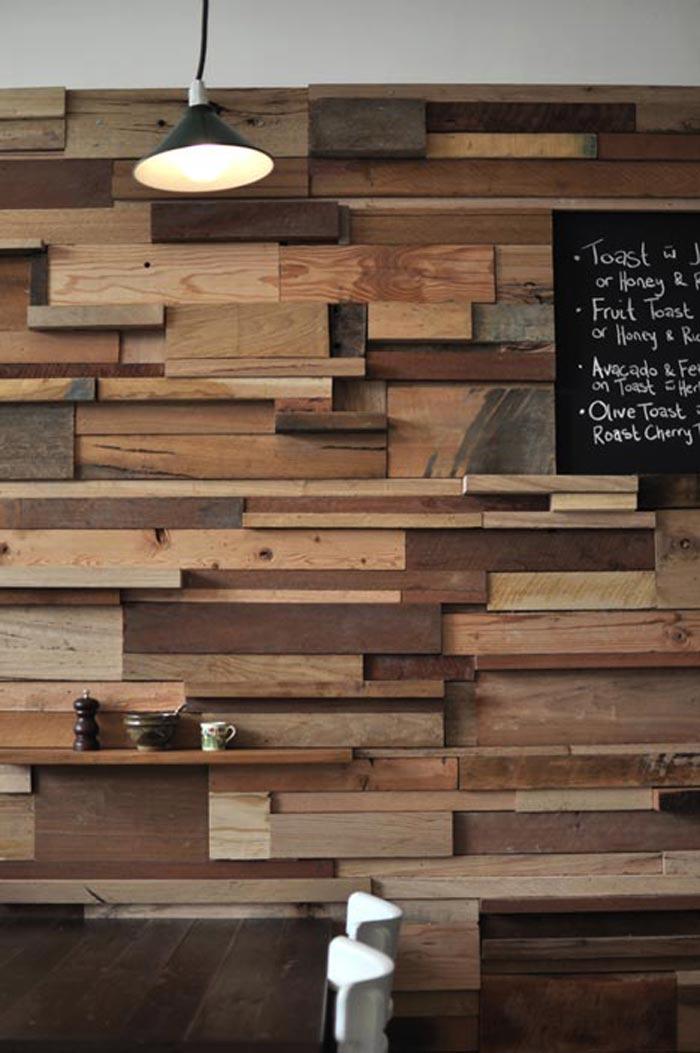 Materiales para decorar reformar o equipar locales de ocio - Madera para paredes ...