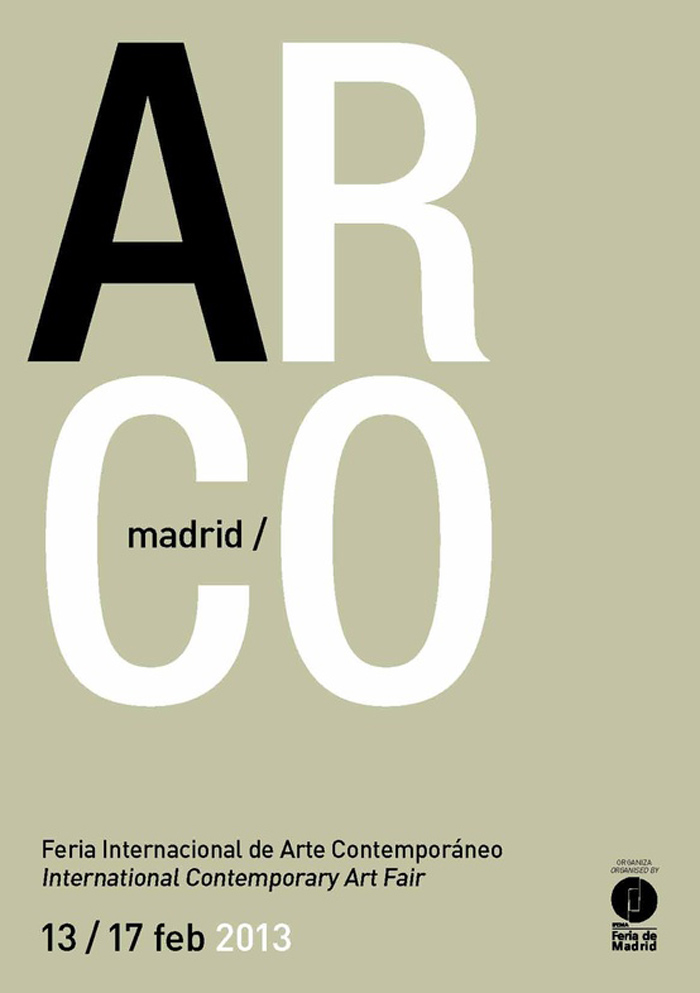 Imágenes del cartel de Arco Madrid 2013