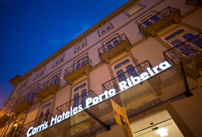 Imágenes de la fachada del Hotel Carris Porto Ribeira