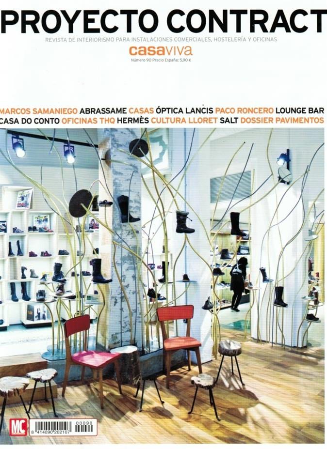Imágenes de la revista Proyecto Contract febrero 2013