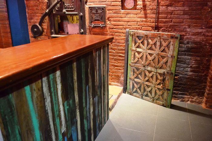 Fotos de los materiales utilizados en el proyecto del restaurante Degvusta