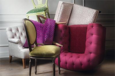 Fotos de los textiles de la firma Alhambra Internacional
