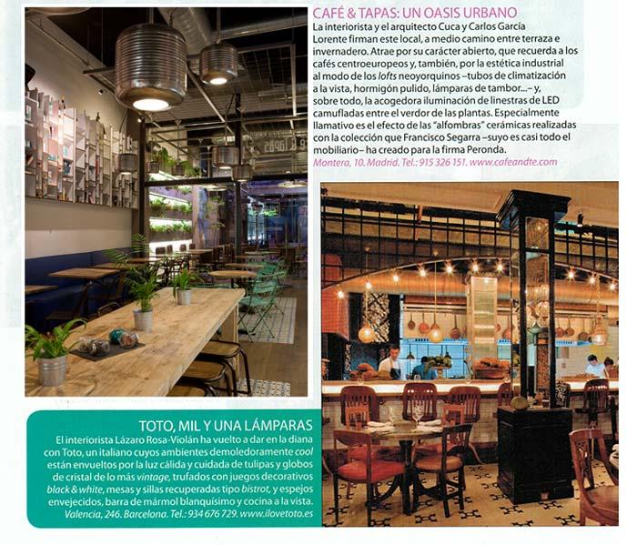 Imágenes del proyecto de interiorismo Café & Tapas en Nuevo Estilo