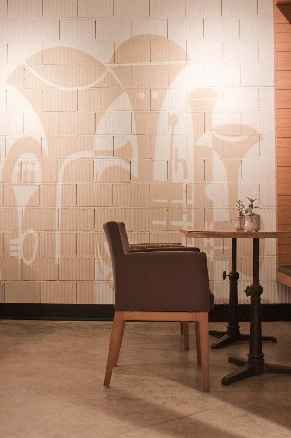 Imágenes del mobiliario vintage para cafeterías y restaurantes