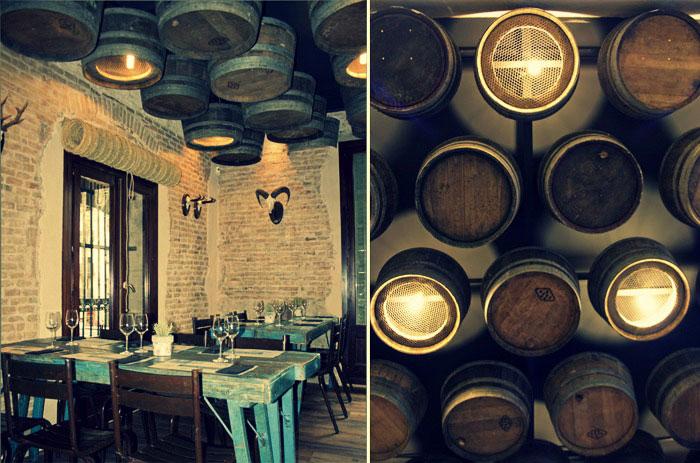 Imágenes de la ambientación vintage en el restaurante Casa Guinart