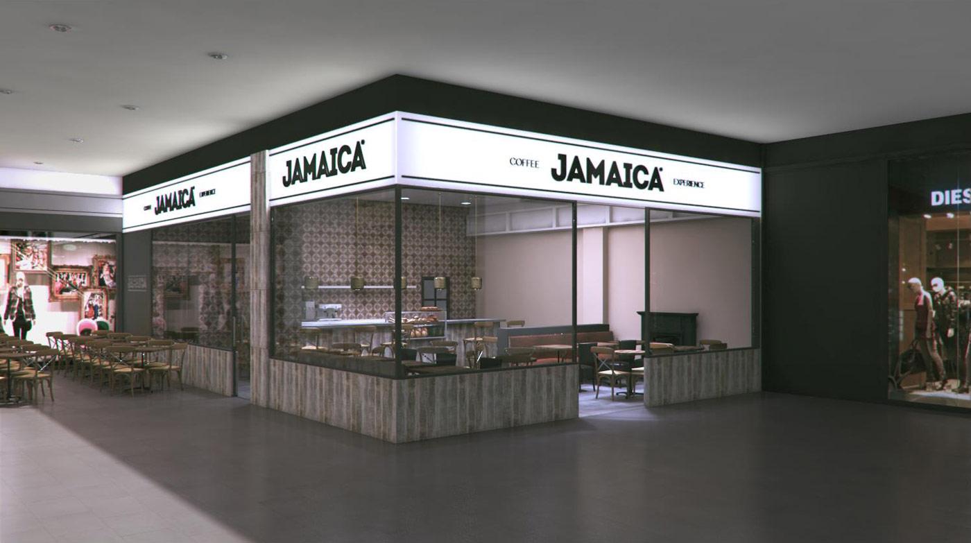 Imágenes de la estética vintage en la cafetería Jamaica Coffee Shop