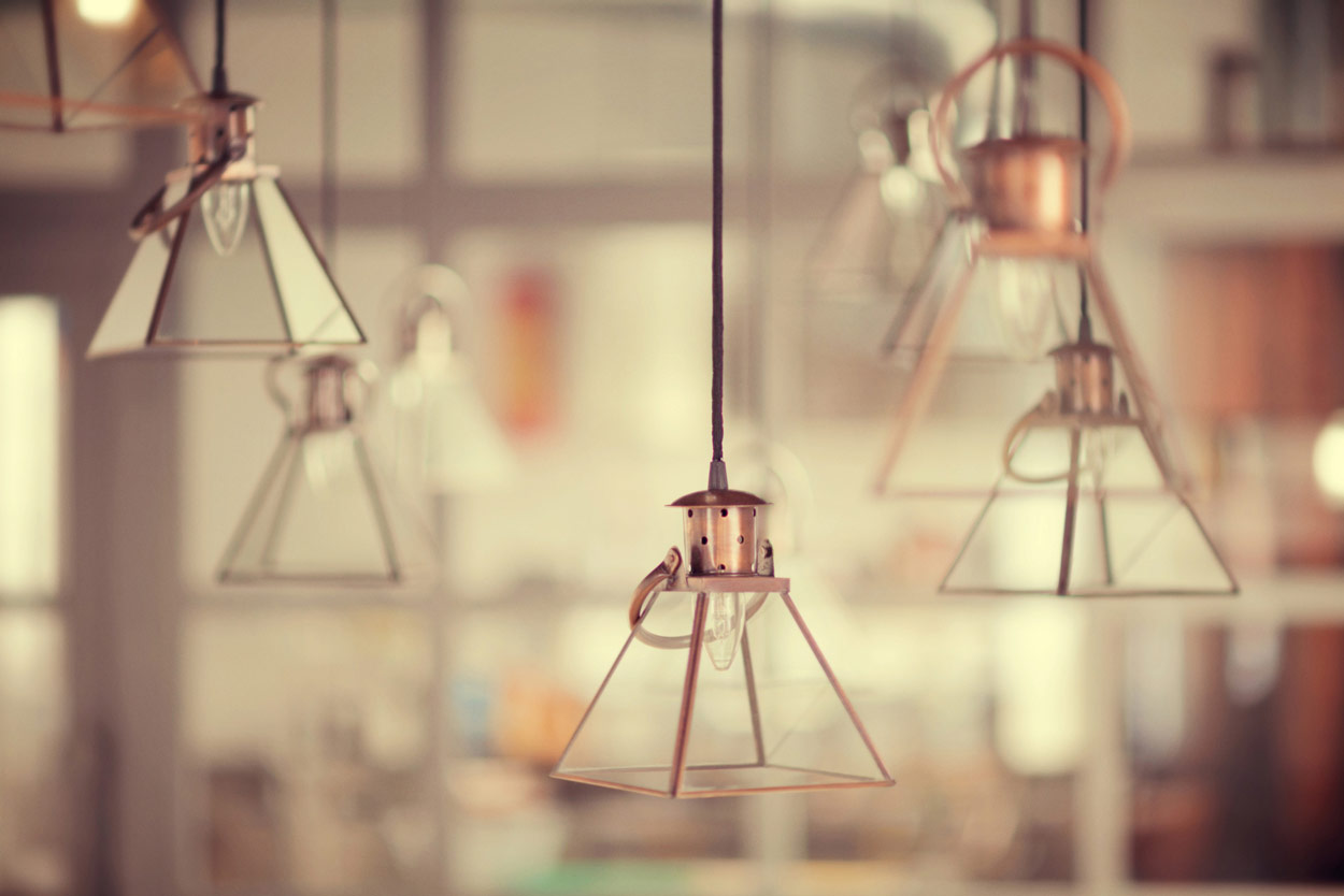 Imagen de las lámparas Francisco Segarra en Forn Le Petit Pain