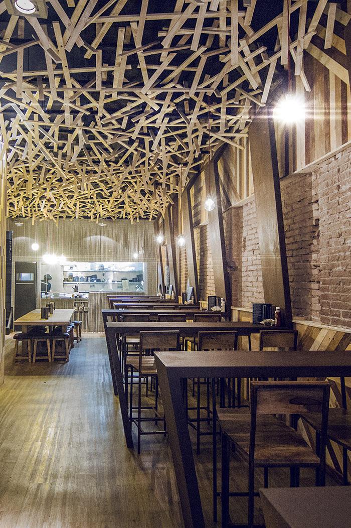 Proyectos de interiorismo profesional for Mobiliario rustico para bares