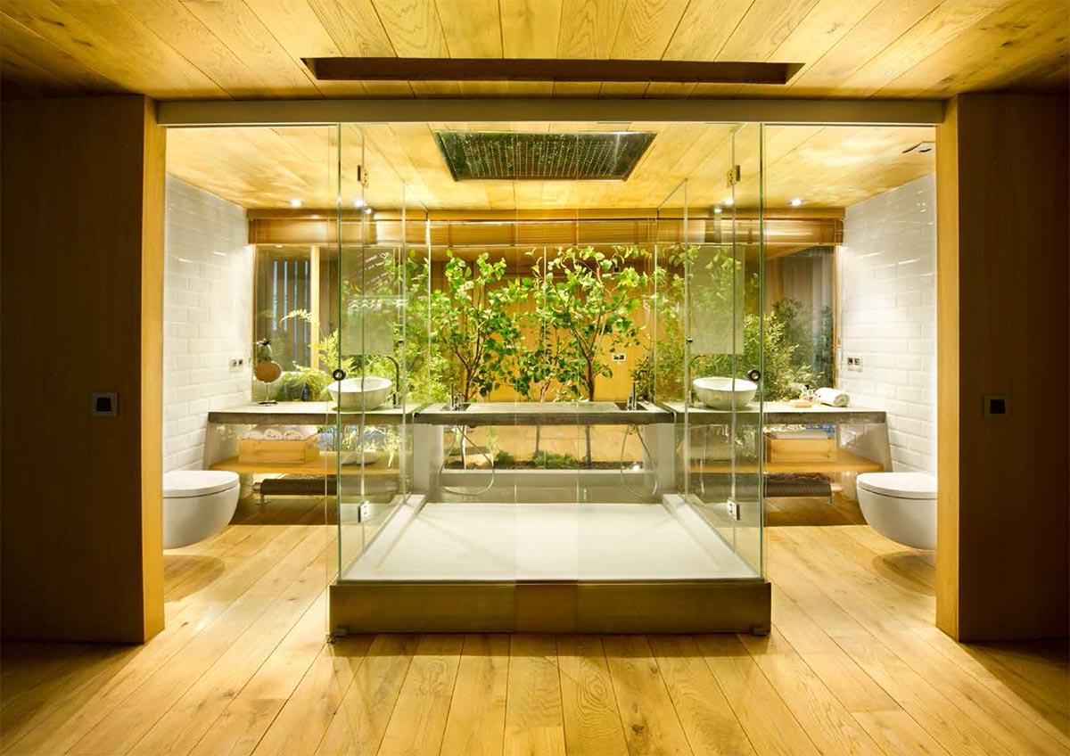 Foto de la decoración del baño loft llevado a cabo por el estudio EGUE Y SETA.