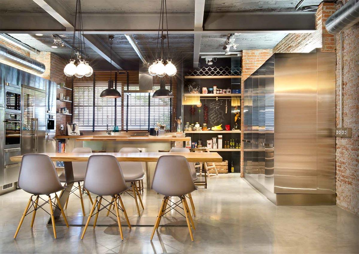 Muebles para proyectos de reforma en viviendas y comercios for Pintura estilo industrial