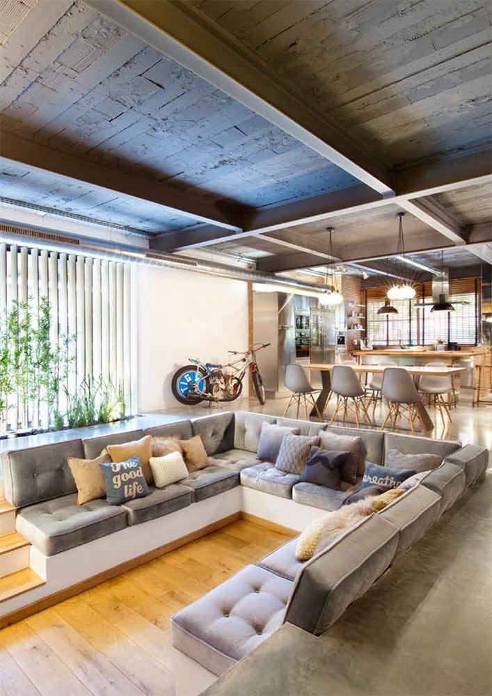 Foto de los muebles de salón en la reforma integral realizada por el estudio EGUE Y SETA.