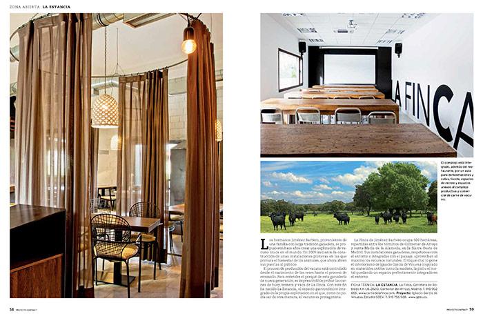 Fotos del mobiliario vintage en La Finca publicado en PROYECTO CONTRACT.