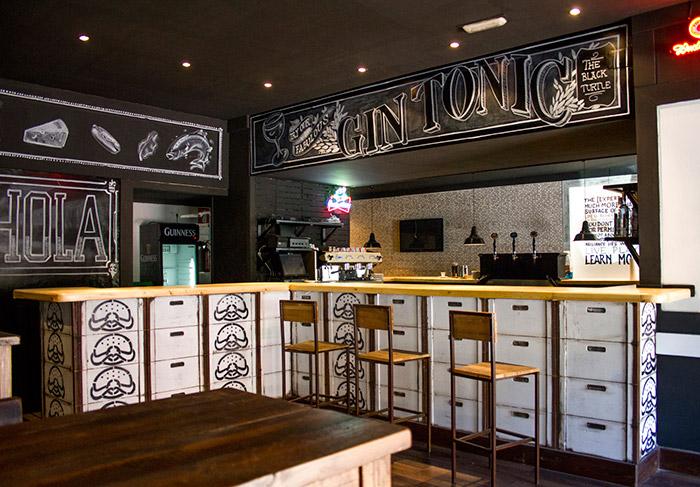 Con cajas o cajones barras de bar recicladas pinterest for Barra bar vintage