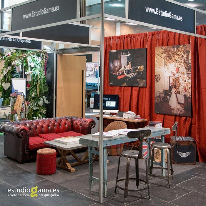 Foto de los muebles Francisco Segarra en el Stand de Estudio Gama en Castellón.