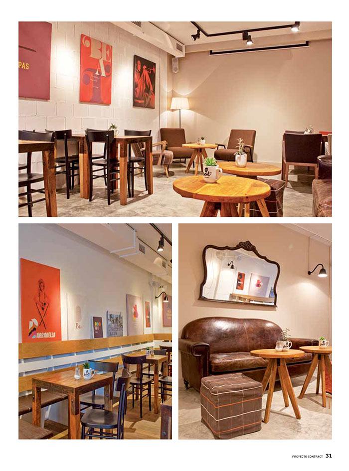 Foto de los muebles Francisco Segarra en la la cafetería Beat Café & Soul.