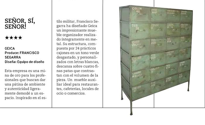 Foto del muebles Geica de Francisco Segarra en PROYECTO CONTRACT 100.