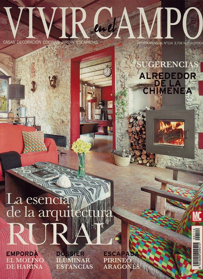 Imagen de la portada de la publicación de interiorismo Vivir en el campo.