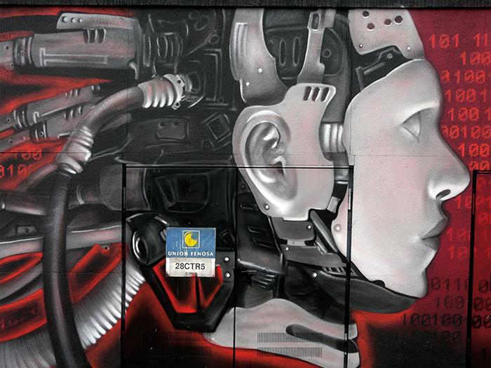Noticias sobre los cuadros de graffitis para decoración de paredes en interiorismo comercial.