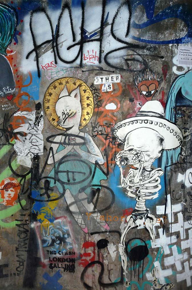Imágenes de graffitis para decoración mural profesional en Francisco Segarra.
