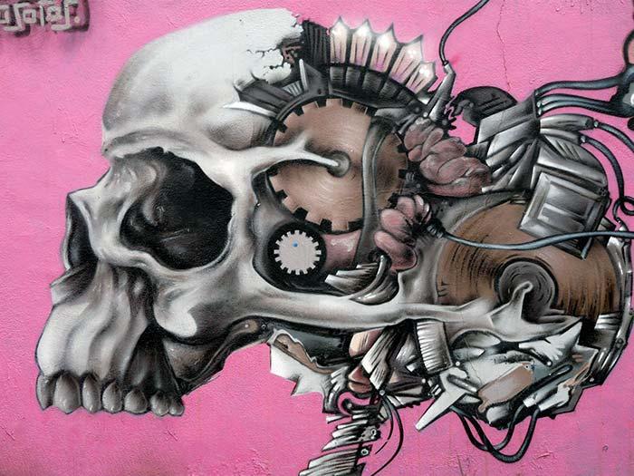 Imagen de los Graffitis para decoración de paredes modernas en locales de ocio.