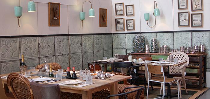 Fotos de las mesas y sillas para hostelería de Francisco Segarra en Intergastra 2014.