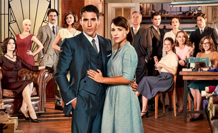 Foto de la serie Velvet de Antena 3 y sus protagonistas.