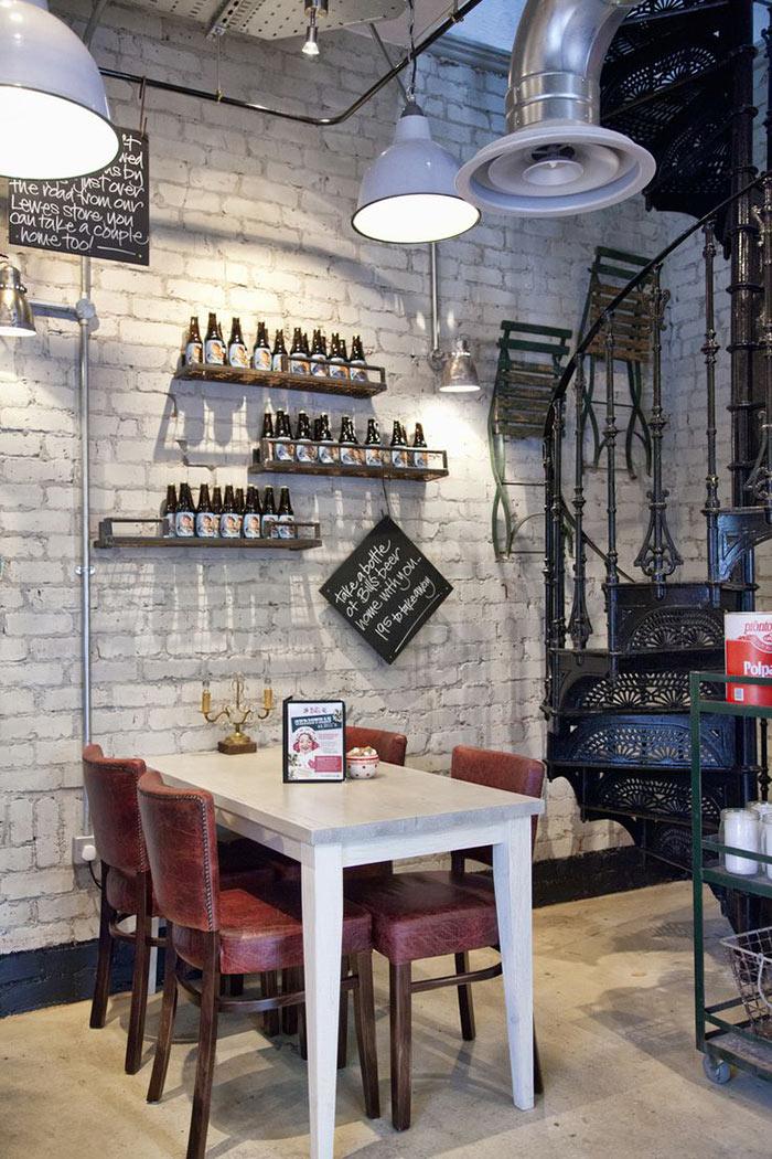 Imágenes de mobiliario para nuevas franquicias y restaurantes de éxito.