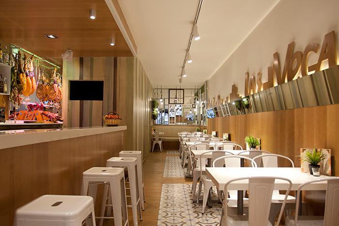 Proyecto de reforma del restaurante las vegas barcelona for Mobiliario cafeteria segunda mano