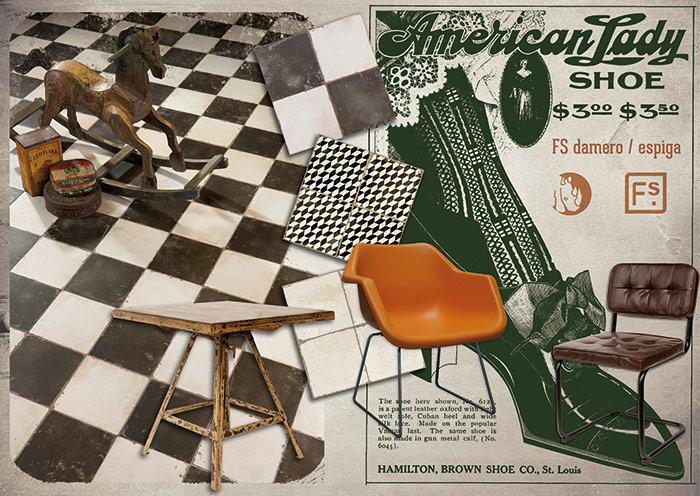 Imágenes de la colección FS by Peronda Cerámicas. Azulejos, pavimentos y revestimientos vintage.