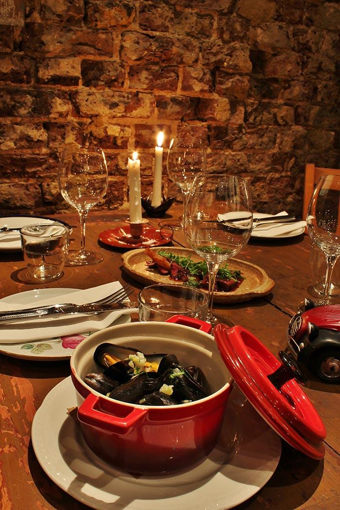 Fotos del proyecto de decoración en el restaurante Blanchette de Londres.