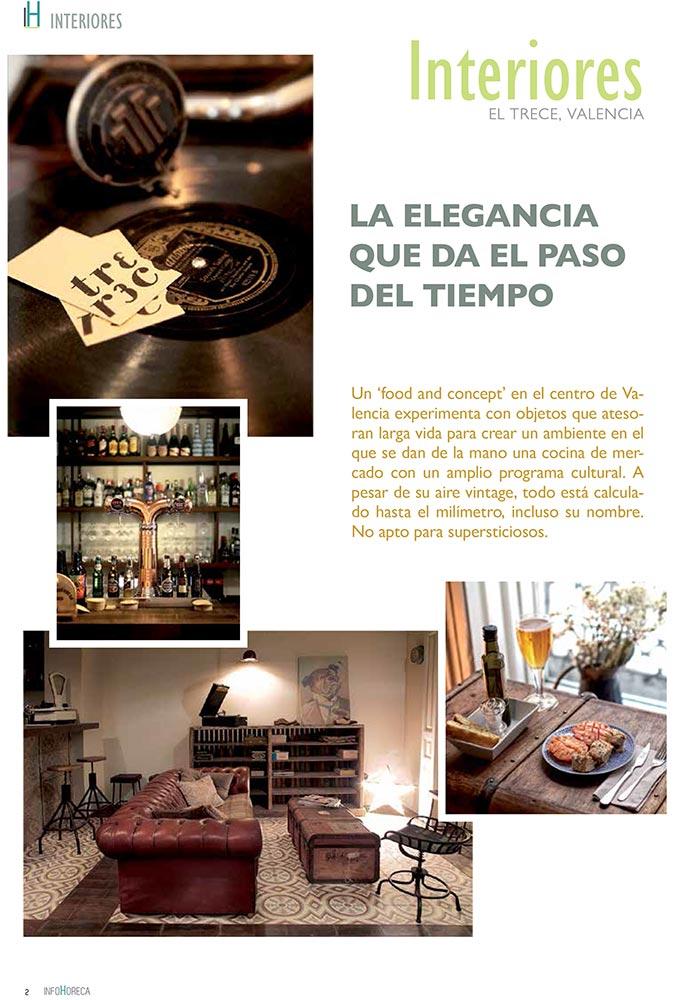 Noticias del Proyecto contract Restaurante Trece en Infohoreca