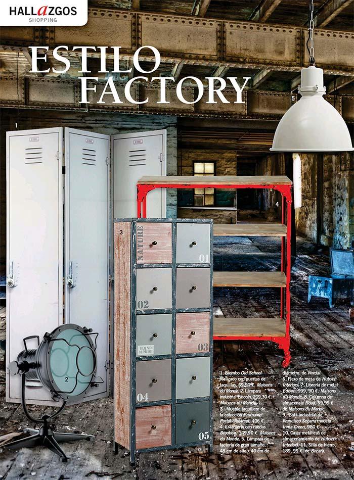 Imágenes de mobiliario de estilo factory.
