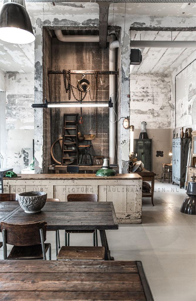 Imagenes de proyectos de interiorismo comercial paulina - Decoracion vintage industrial ...