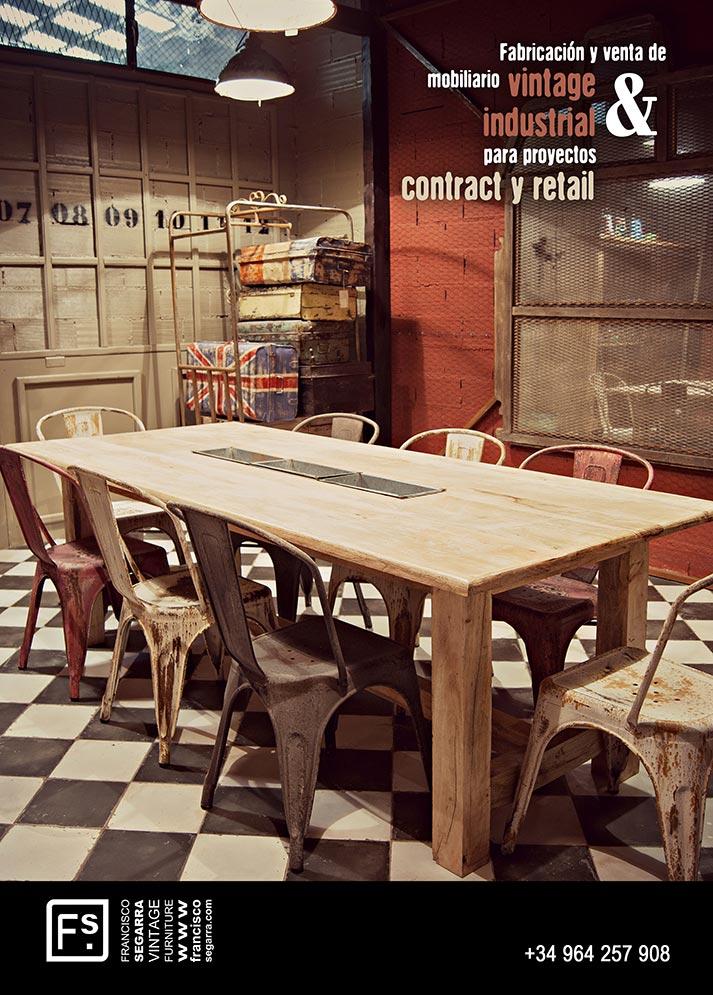 Imágenes. Mobiliario vintage para el sector horeca.