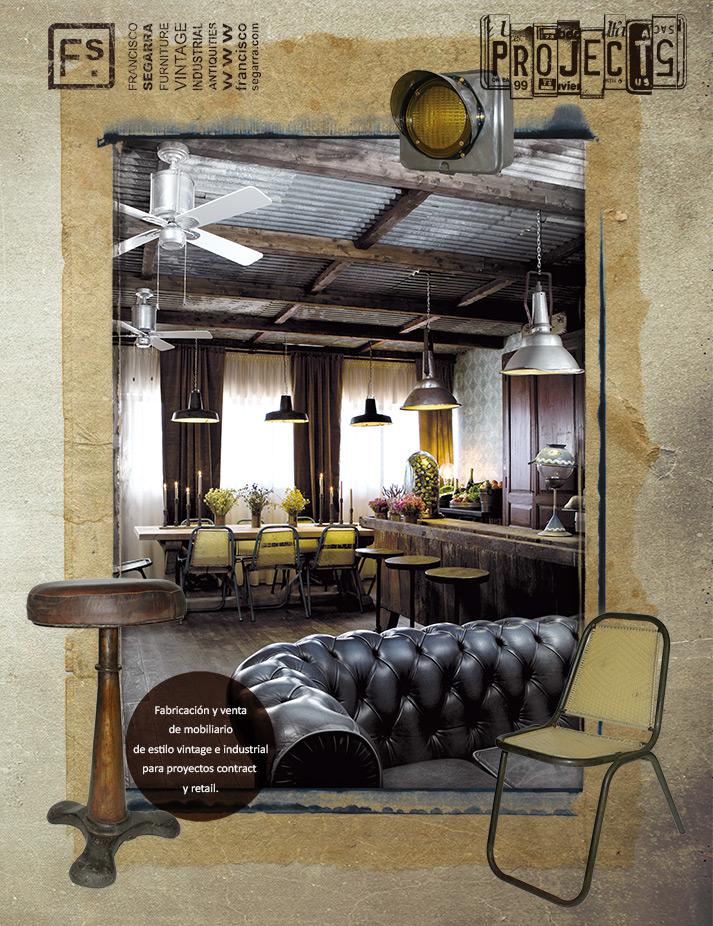 Fotos. Muebles para prouyectos de interiorismo vintage