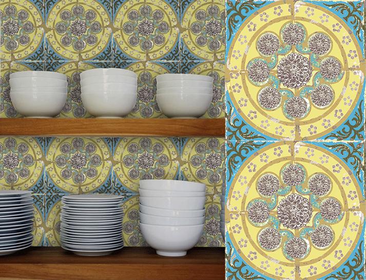 Fotos. Papeles pintados vintage. Paper Tiles.